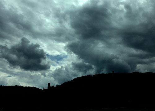 Dramatic clouds over the Rhine