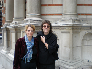 Steve and Steph Kennedy outside Westminster Cathedral