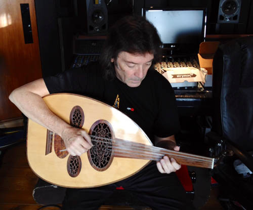 Steve playing the oud