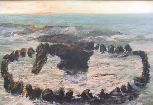 Seahenge by Steve's Dad, Peter Hackett
