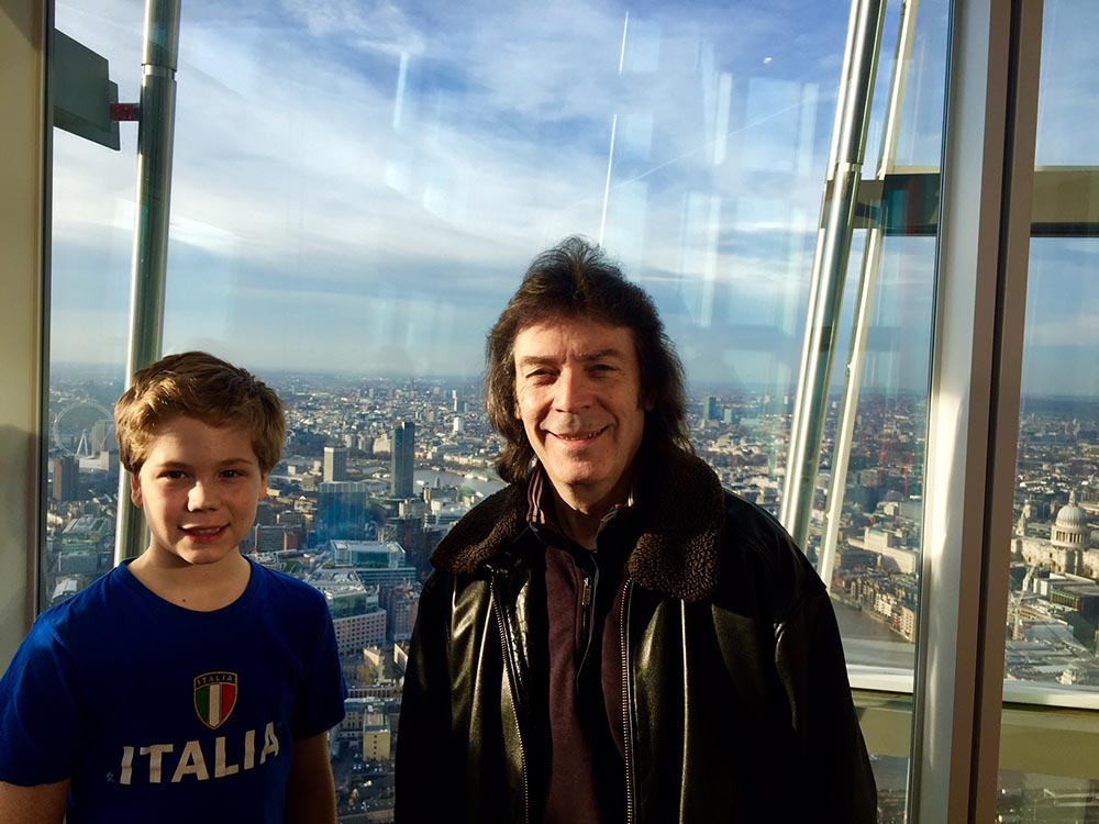 Steve with nephew Vic in the Shard