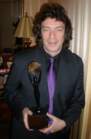 Steve with his award