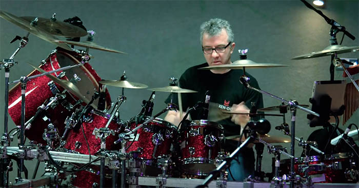 Gary O'Toole on drums