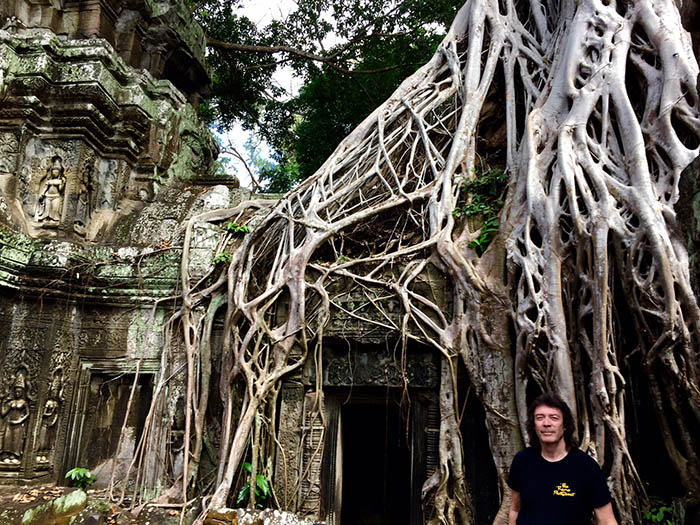Exotic temple in the Cambodian jungle... Eastern sounds feature on 'Martian Sea'
