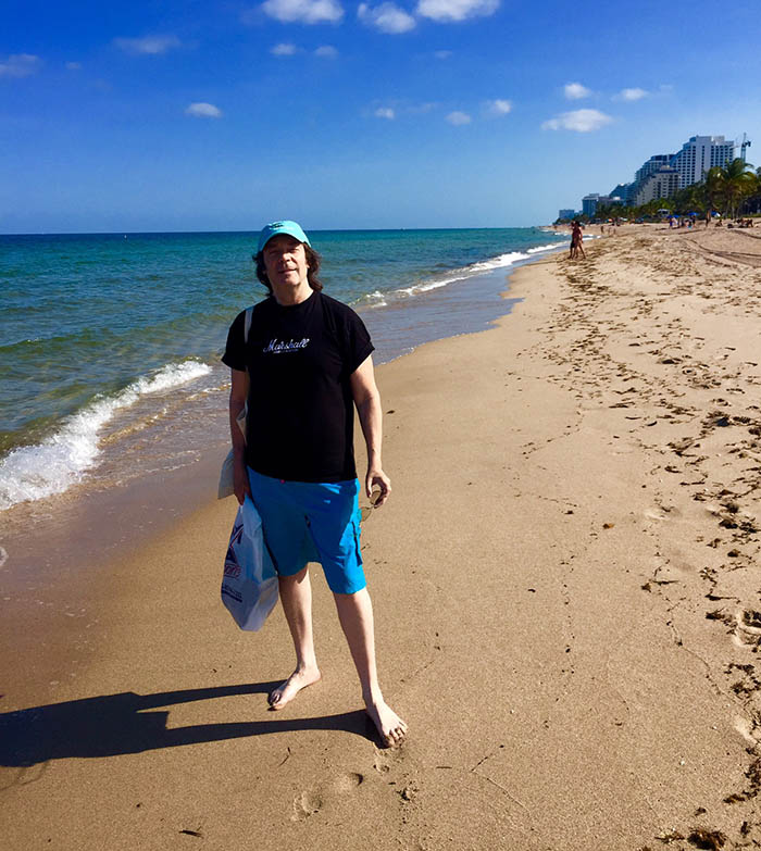 On the beach, Fort Lauderdale