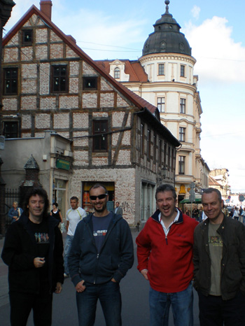 Steve, Rob, Gary and Roger in Inowroclaw