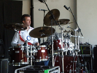 Gary in soundcheck