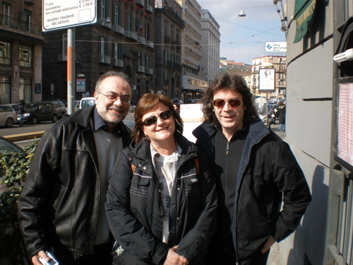 Mario, Maria and Steve in Naples