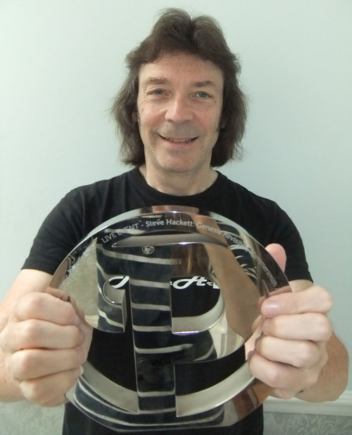 Steve with his Prog Award for Best Live Event