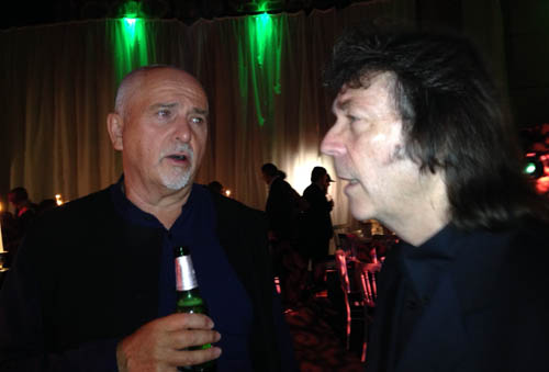 Peter and Steve at the Prog Awards