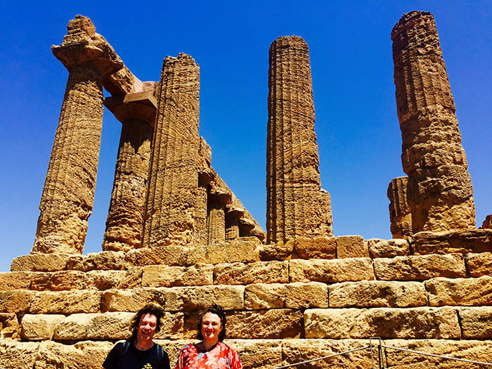 Steve and Vania at the Hera/Juno temple, Valley of the Temples