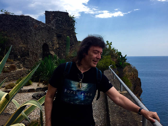 Steve on the castle ramparts at Aci Castello