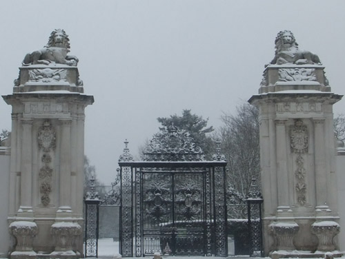 Lions in Winter (Gates to Hampton Court Palace)