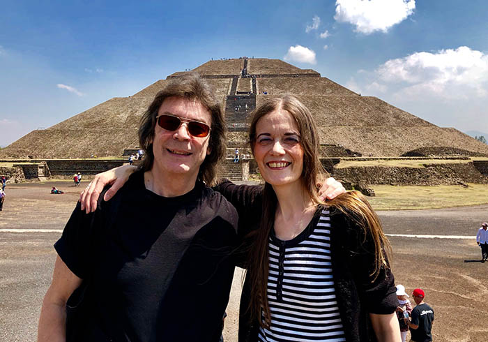 Steve and Jo at Teotihuacan