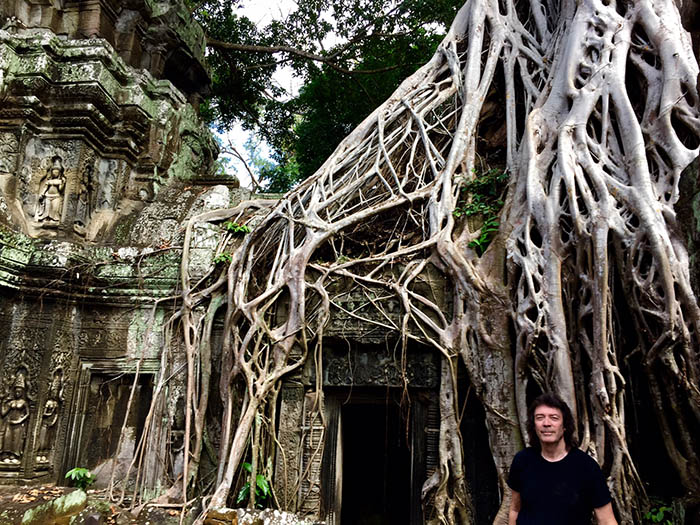 Ta Prohm in the heart of the Cambodian jungle