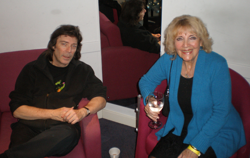 Steve and mum June backstage at Milton Keynes