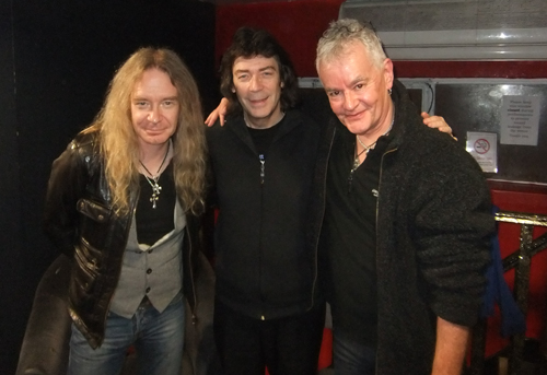 Steve with Doug and Nigel of Saxon