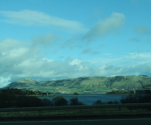 Passing a Scottish loch