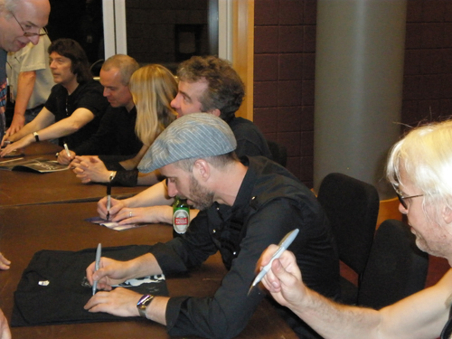 Steve and band signing after Nearfest show