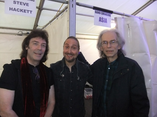 Steve with Lee Pomeroy and Steve Howe