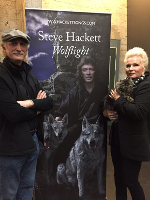 Angela and Maurizio Vicedomini with Tobby the cat, who created the Wolflight art photos