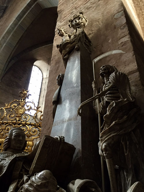 Image of death in Trier Cathedral
