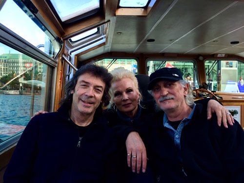 Steve with Angela and Maurizio on the boat in Hamburg