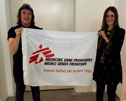 Jo and I were really happy to have Medici Senza Frontiere (Doctors Without Borders) with us in Italy. They are incredibly brave and save lives around the world.