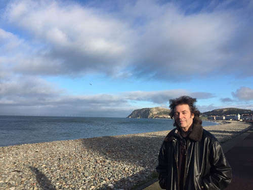 Steve beside the sea in Llandudno