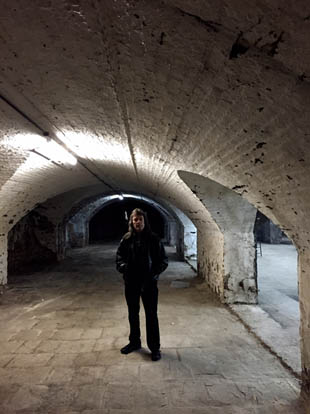 Down in the vaults of the Colston Hall, Bristol