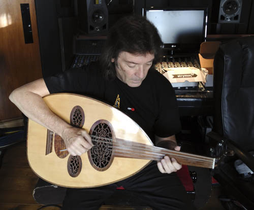 Steve playing oud