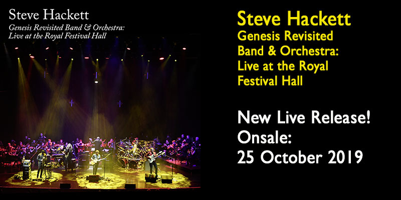 Steve Hackett Genesis Revisited: Live at the Royal Festival Hall 2CD and Blu-Ray Digipak