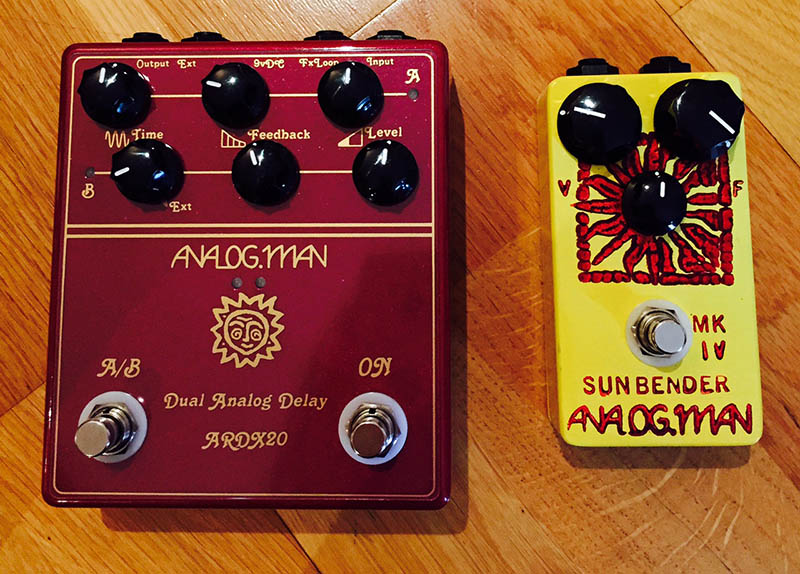Analog Man pedals - Delay and Sunbender