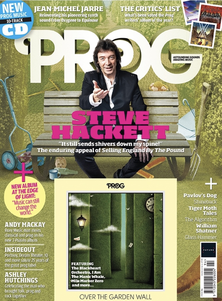 Check out splendid cover feature on Steve in the current issue of Prog Magazine!