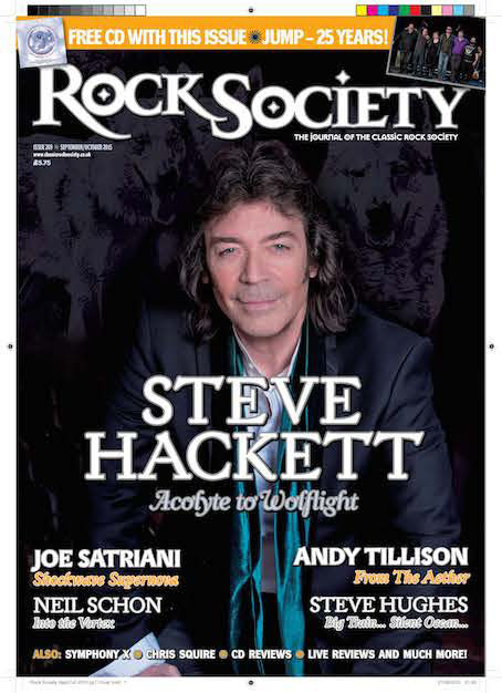 Rock Society Magazine Steve Hackett interview
