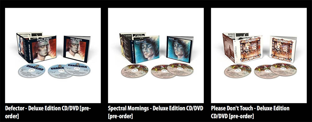 Deluxe editions of three classic Hackett albums; Please Don't Touch, Spectral Mornings and Defector