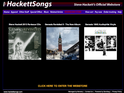 Click here to go the the Hackettsongs Webstore
