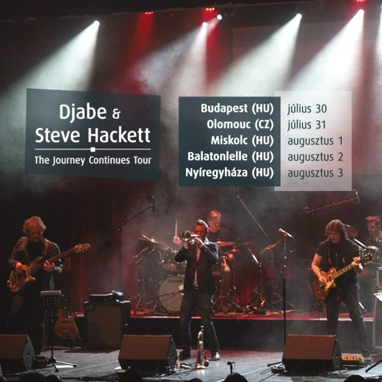 Steve Hackett and Djabe Tour date in July 2019