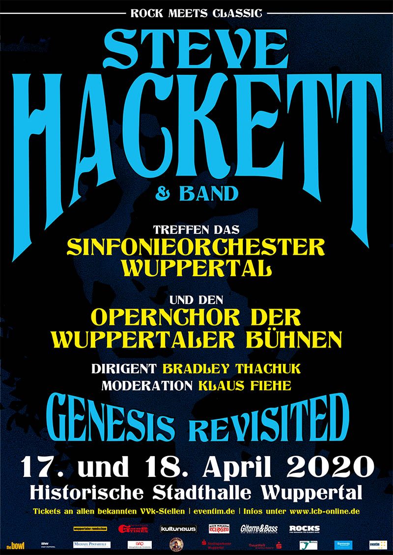 Wuppertal - Rock Meets Classic - Steve Hackett with band & Orchestra