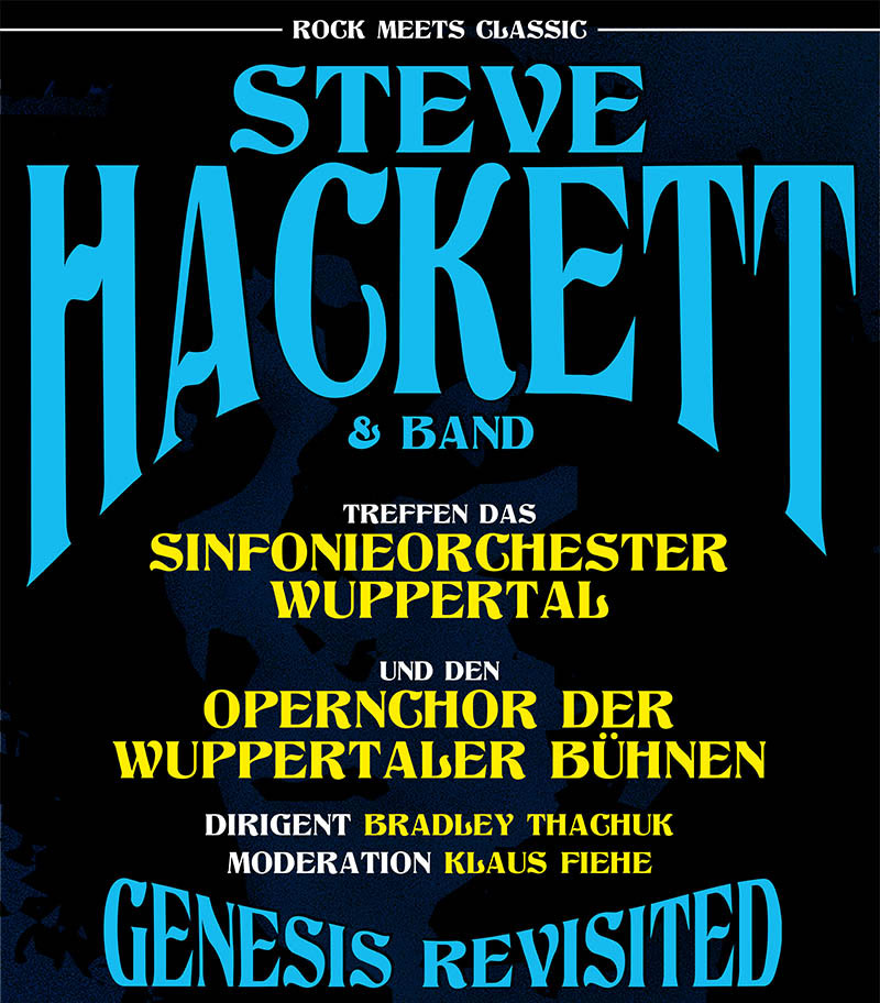 Wuppertal - Rock Meets Classic - Steve Hackett with band and Orchestra